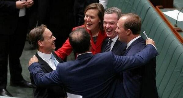 Dear 2050: this is a picture of our legislators celebrating ending a cheap, effective scheme to reduce CO2 emissions http://t.co/mZut9AaFZQ