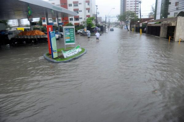 Torrential rains flood the city hosting today's World Cup match between the U.S. and Germany http://t.co/uz4JpeS3qW http://t.co/NvfptObC9g