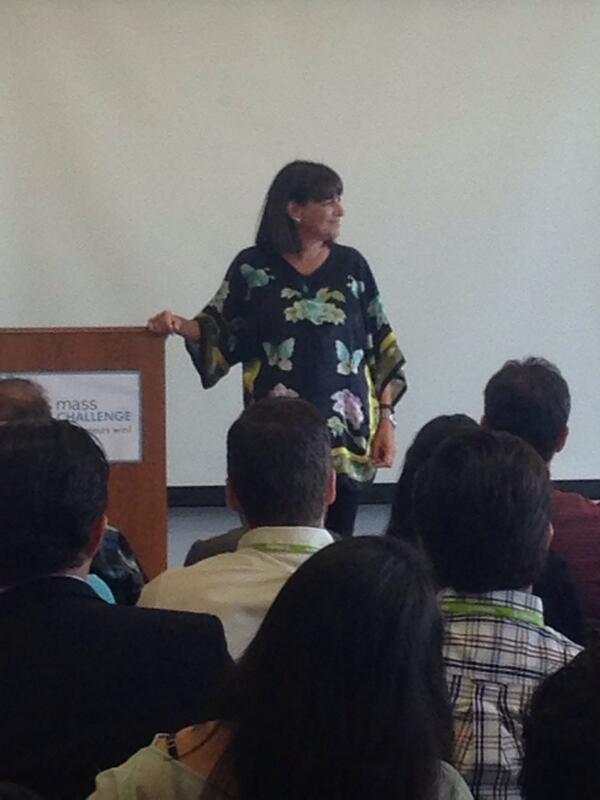 We're loving @DianeHessan's inspiring speech about entrepreneurial dreams! @MassChallenge #MCEngage14 @communispace http://t.co/znntORZXmB
