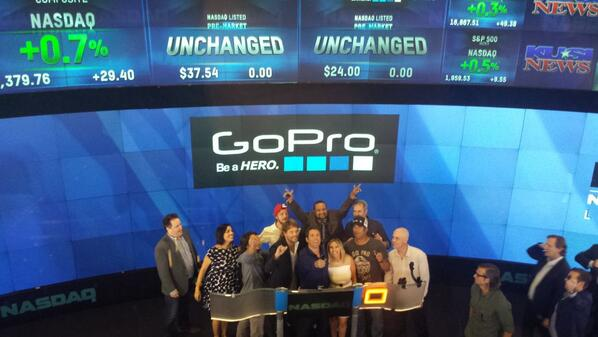 GoPro getting camera ready at the @NASDAQ #goproipo http://t.co/PZiq01Fmjs