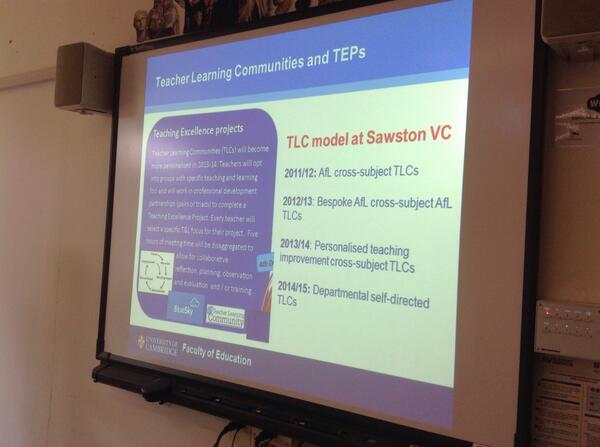 .@ProfLearnSVC  teacher learning communities: teachers decide their research focus: less contrived #SUPER2014 http://t.co/wCIBEBqiMy