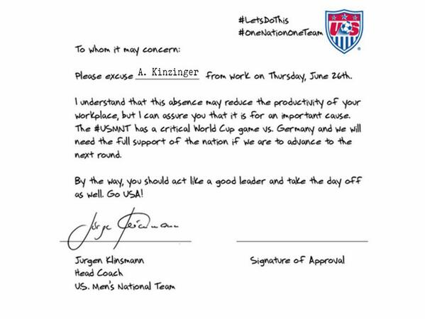 What do you say @SpeakerBoehner? Just this once for the #USMNT, I promise. http://t.co/M9F97k6rwL