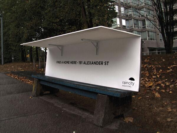 London has anti-homeless spikes. Vancouver has pop-up shelters for rough sleepers. http://t.co/R2UvEp8qUg http://t.co/DSJJAN3SW0