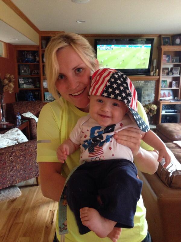 Monique Lamoureux  - Baby is read twitter @moniquelam7 henri,usmnt,usavsgermany,ibelievethatwewillwin
