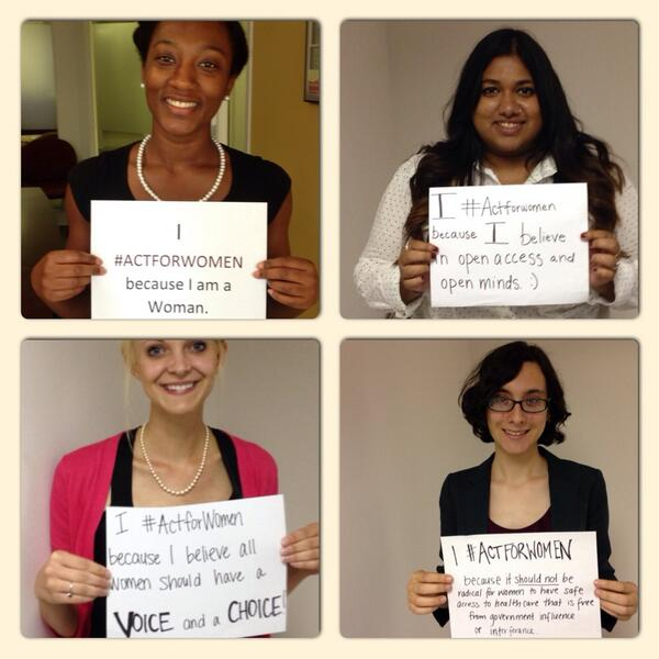 NWHN Interns and Staff send their support to advocates at Capitol Hill and share why they #ActForWomen! http://t.co/6AkIeKdNdZ