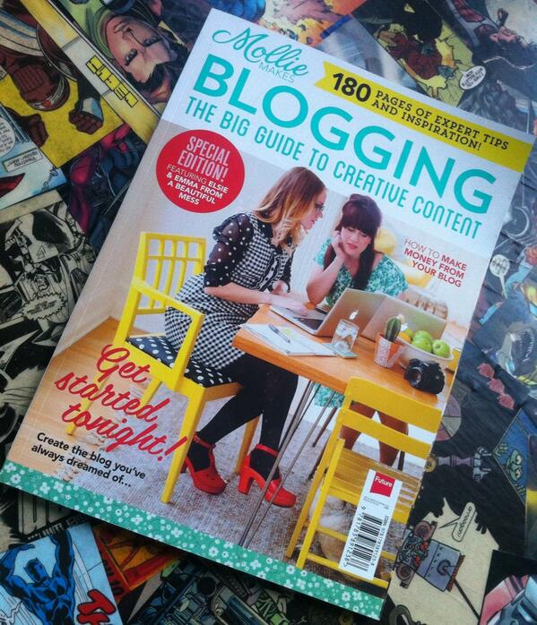 Very excited the @MollieMakes blogging guide has arrived! I *will* get my #blog up and running this weekend. http://t.co/24vdKxtHyR