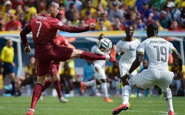 Il Gol di CR7 Cristiano Ronaldo in Portogallo-Ghana che saluta i Mondiali in Brasile [VIDEO]