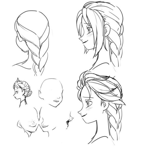 How to draw Elsa by A-ka : Frozen