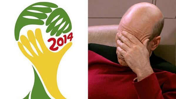 Hehehe RT @thinkgeek: Cannot unsee: The World Cup logo is Captain Picard facepalming: http://t.co/o19i5NlrZI http://t.co/kT1H1xzwfJ