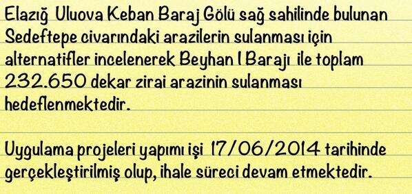 Veysel Eroğlu On Twitter Beyhan I Barajı Sulaması Ile 232650