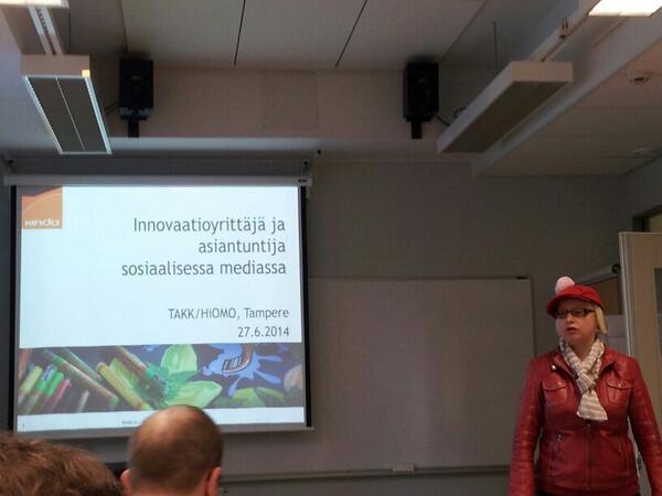 @PauliinaMakela aloittamassa #takk #tampere  #yrittäjyys #some http://t.co/Kdc83hZb7h