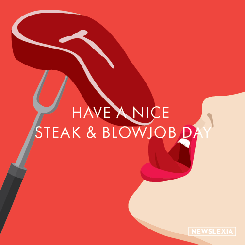 Online steak card blowjob