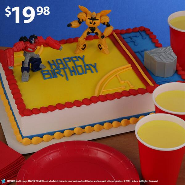 Walmart on Twitter Robots in disguise Transformers on cake http