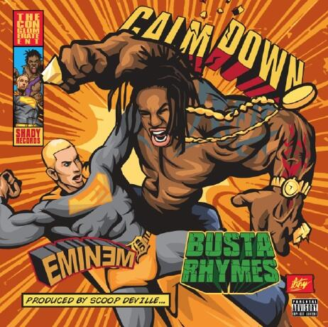 @RollingStone official single cover art for Busta Rhymes feat. Eminem #CALMDOWN produced by Scoop DeVille - JULY 1st http://t.co/CITglS0Gt0