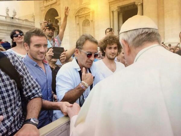 Mancuello saludó al Papa