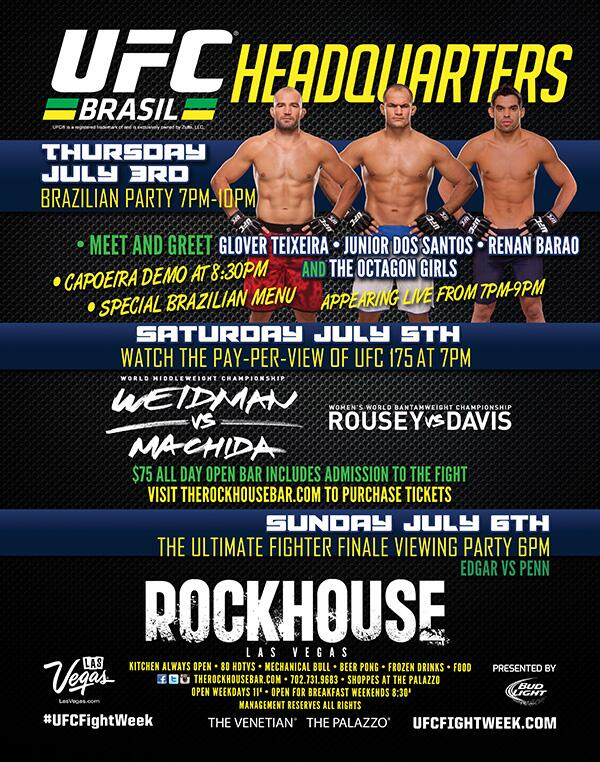 Where will you be for #UFC175? #RockhouseVegas #Vegas #UFC #UFC2014 @gloverteixeira @junior_cigano @RenanBaraoUFC http://t.co/jA5gULtXhf