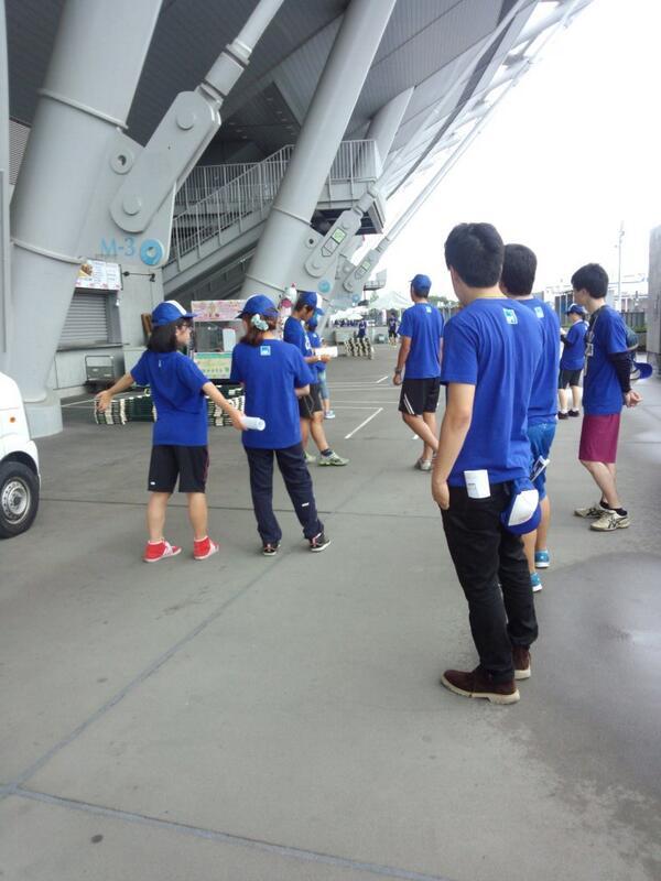 味スタで今日明日開催のブラインドサッカー日本選手権入場無料です!フリマありイベントありで1日楽しめます!みなさんぜひブラインドサッカーを観に来てください(●´ω`●) 只今張り切って設営中です! http://t.co/UZ3KTkaBNz