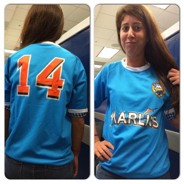 big sale 6ddbc b2f71 blue miami marlins jersey
