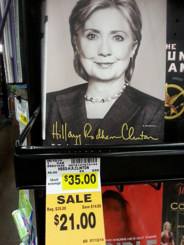 Hillary Clinton's book continues to flop - prices cut nationwide