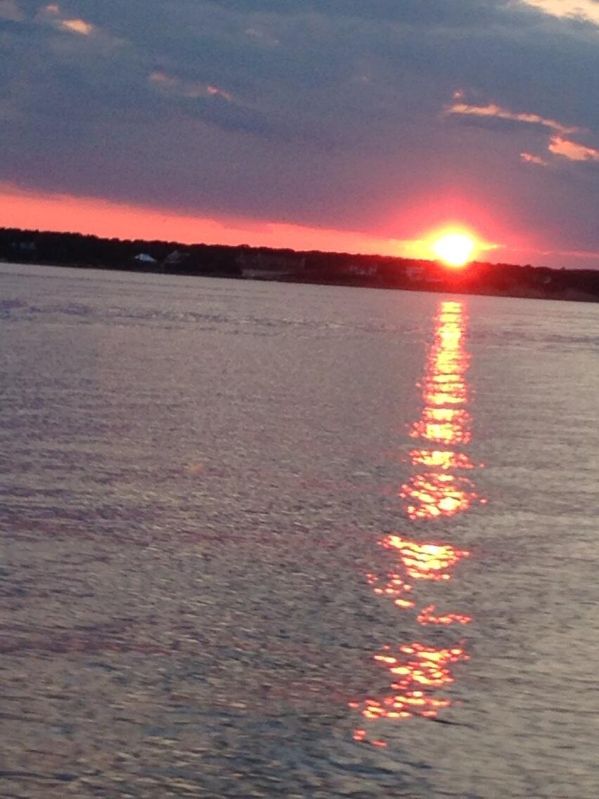 Twitter / ChrisCuomo: #sunset on the shinnicock bay ...