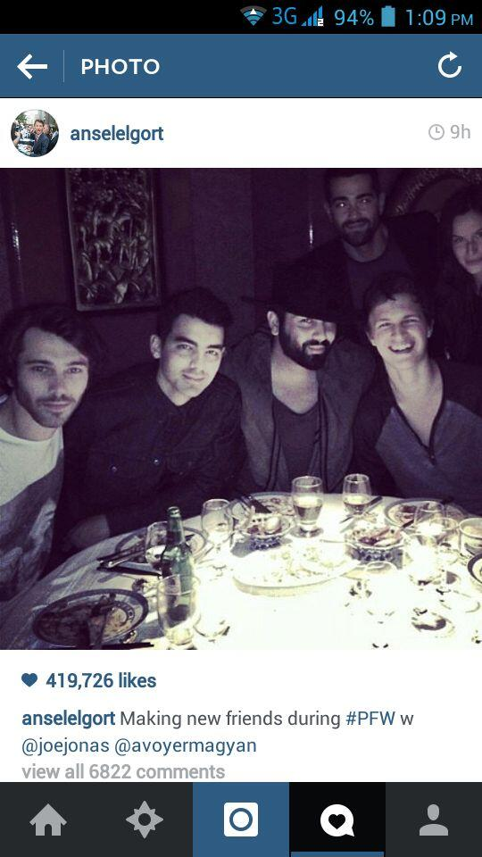 IT HAS BEEN SO LONG SINCE I'VE FANGIRLED LIKE THIS, YOU GUYS @joejonas @AnselElgort http://t.co/1mXLcOFMT8