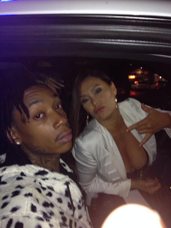 Tia Carrere and wiz khalifa