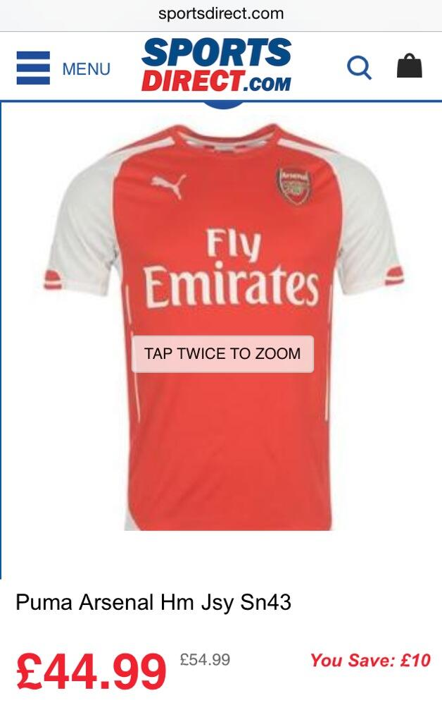 cheap for discount 55155 afa23 PHOTOS: Arsenal 2014/15 Shirt Being Sold Online Before ...