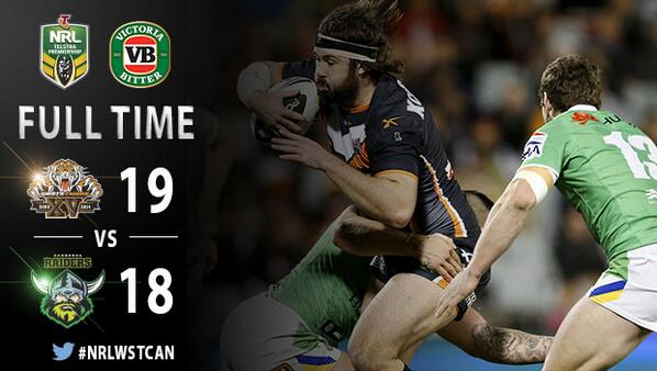 NRL FULL TIME — Unbelievable effort from the boys tonight! RETWEET if you're proud to #SupportYourClub! http://t.co/xG5t6KRAFN