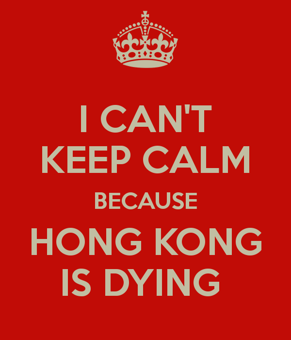 Carol 陈思桦 On Twitter I Cant Keep Calm Because Hong Kong Is