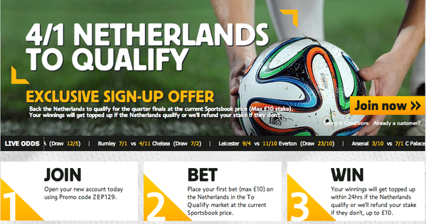 Holland are a whopping 4/1 to qualify past Mexico for the World Cup quarter finals with Betfair