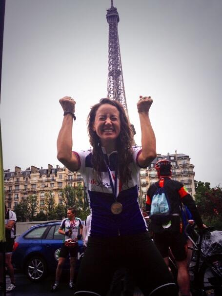I did it. I cycled to Paris. And every mile was for @UKYouth http://t.co/fv7LGHXSjw #triumphant #london2paris http://t.co/5ZOxvDomoX