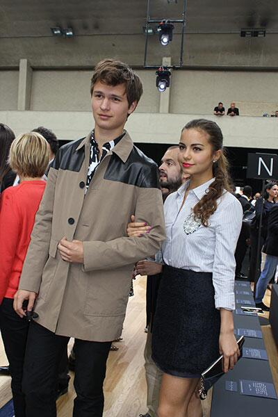 .@AnselElgort and @ViolettaK attended to @Dior Mens's Fashion Week #SS15 http://t.co/TPuwvJG90R