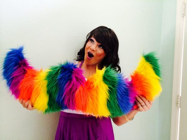 Devon wearing the @lyft Pride stache proudly! On way to @stpetepride ! http://t.co/2efEWF042o
