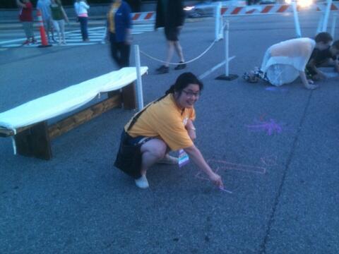 Karin Lin helping prepare for #WaterFire. #uuaga http://t.co/96kO2kkO8c
