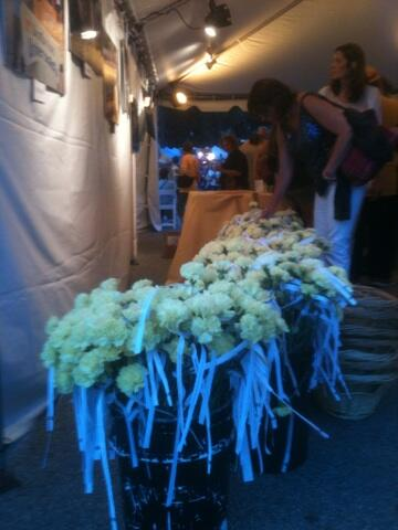 Yellow carnations with quotes about LOVE for #WaterFire. #uuaga http://t.co/LmHqviSQfc