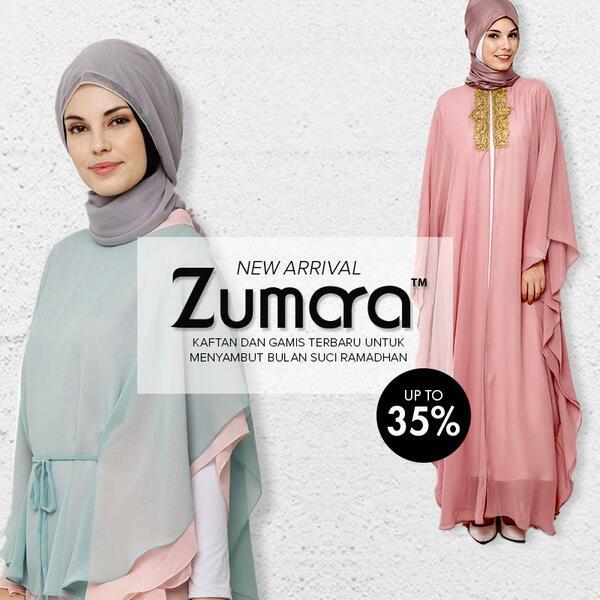 Zalora Indonesia On Twitter Zumara New Arrival Kaftan Gamis