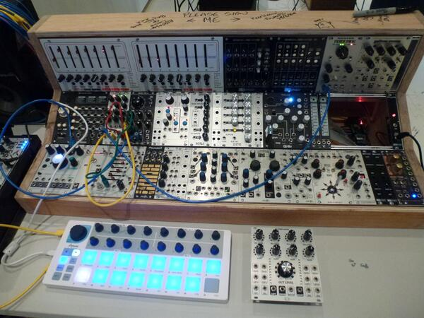 Some pictures from the Brighton Modular Meet at @SussexUniMFM on Saturday. #musmat14 // cc @musicSussex http://t.co/HD3T5hKTx2