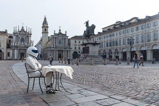 The Stig in Piazza San Carlo , Torino, 2014