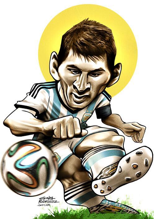 Gonza Rodriguez on Twitter Caricatura de Messi 2do gol en