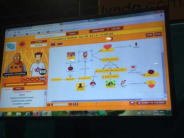 So cool! @brainpop has a new concept map tool! http://t.co/cbW6ukPcOO #ISTE2014 #edtech http://t.co/rJoaElxyIm