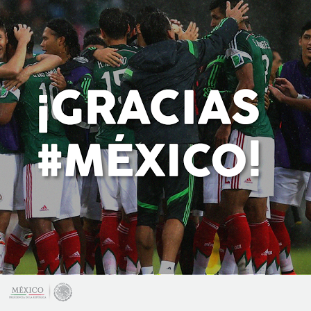 ¡Gracias @miseleccionmx #MEX les reconoce su trabajo y esfuerzo! #MEX http://t.co/Ty0Fj1F4Ti