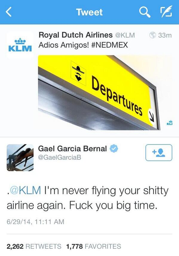 So that went well for KLM: http://t.co/ooFZfaQSHL