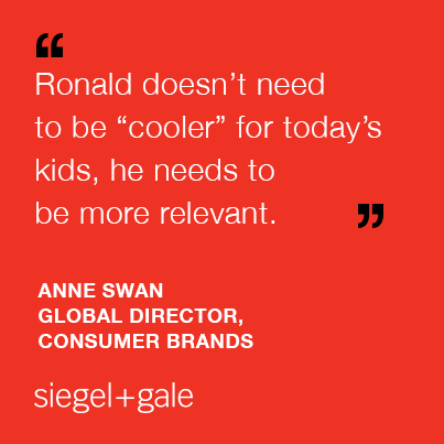 "Relevance is key ""@SiegelGale: Ronald McDonald: how to rebrand a modern icon  http://t.co/OlhFeFExDI #branding  http://t.co/TBDNCOcqez"""