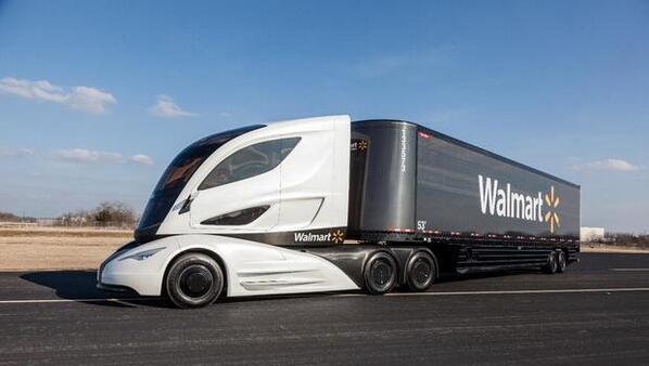 ウォルマート社が、経費削減のため、燃費のいい画期的なデザインの大型トラックを開発した。 buff.ly/1nJecY7 pic.twitter.com/OdLr90laQl