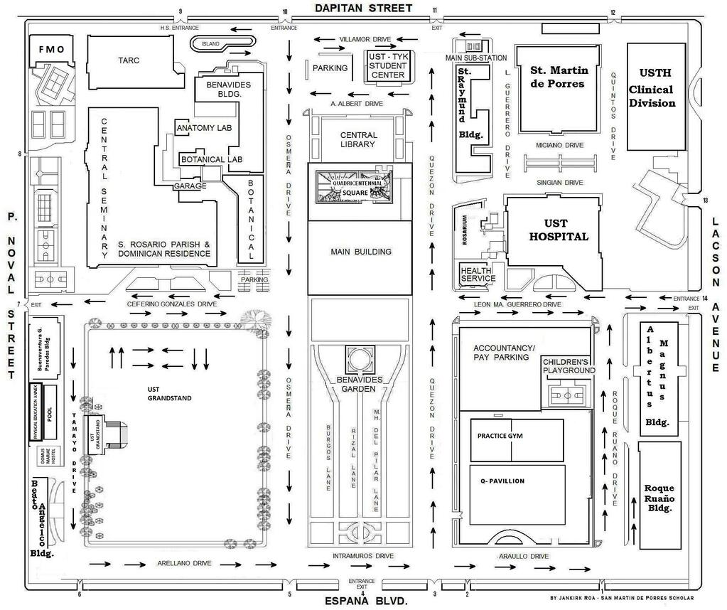 UST OSA On Twitter UST MAP  HttptcobMTcoJcG - Location map ust