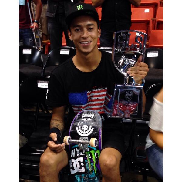 Congrats to @Nyjah_Huston who took home another @StreetLeague win today! http://t.co/X0KOKanrpz