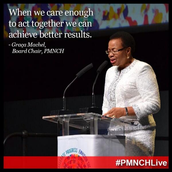 We are honored to have Graca Machel lead #PMNCHLive. Photo via @JNJGlobalHealth http://t.co/KGpaWqXnry