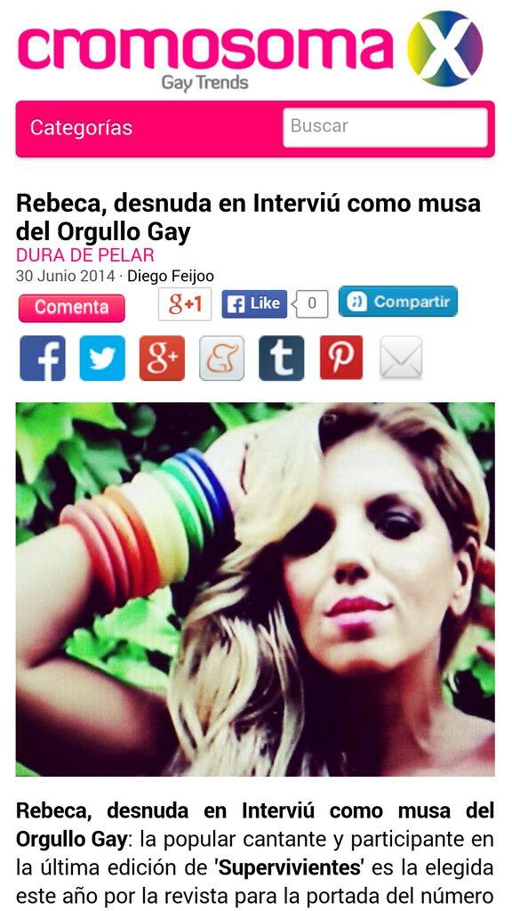 Rebeca Music On Twitter Rebeca Desnuda En Interviú Como Musa Del