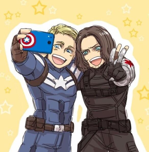 Natasha Romanoff On Twitter Quot Steve And Bucky Selfie X