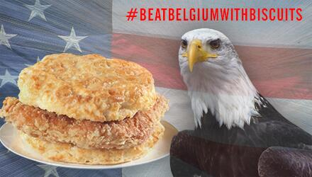We've been boycotting waffles since 1977. #BeatBelgiumWithBiscuits #USAvsBEL http://t.co/IpXFXWq4hr